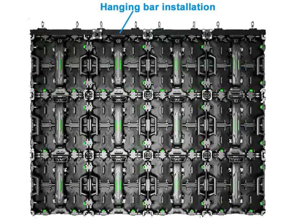 RK500 Hanging bar installation
