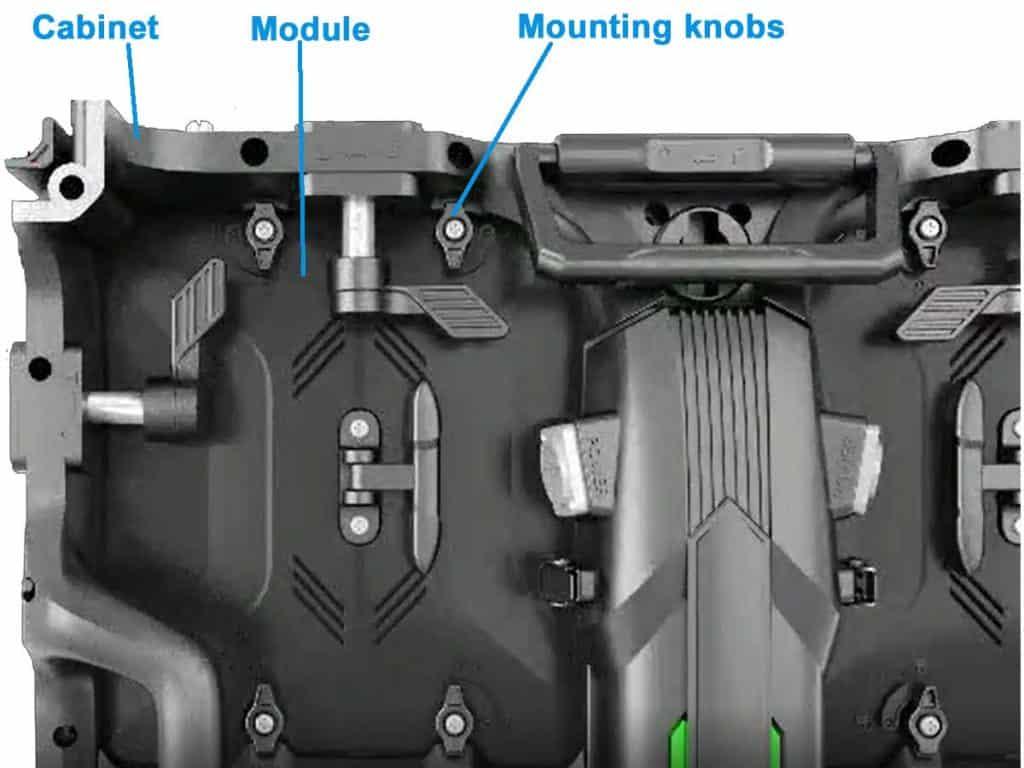 RK500 mounting knobs