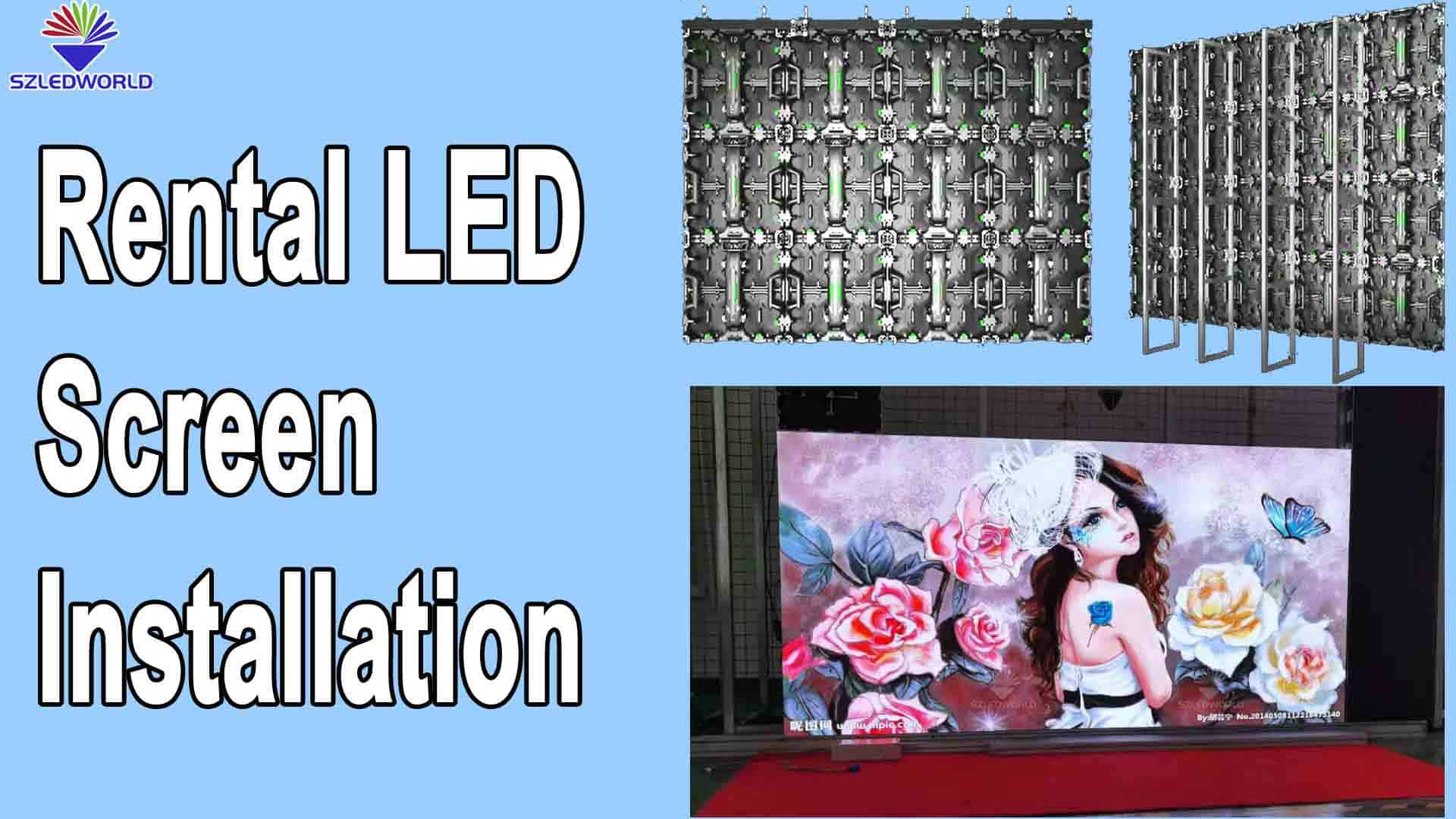 Rental LED Screen installation