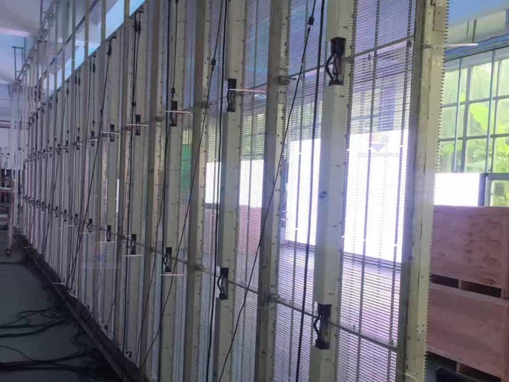 transparent glass led screen wall