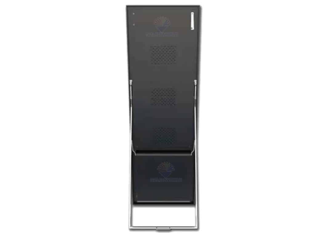 mirror led screen bracket standing back view